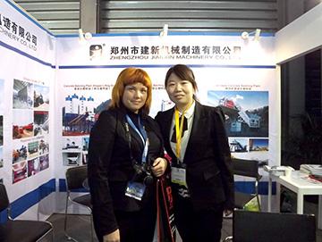 郑州建新公司参加2015上海宝马机械展销会