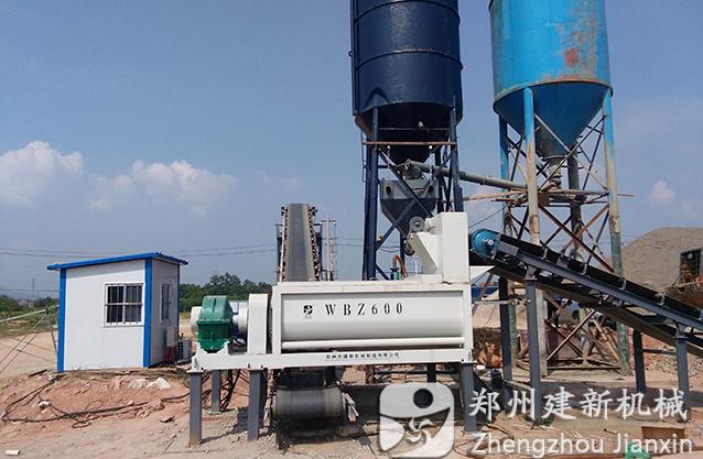 湖北黄冈600稳定土拌和站投产运行